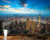 Shanghai at Dusk wallpaper mural kitchen preview