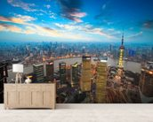 Shanghai at Dusk wallpaper mural living room preview