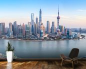 Shanghai Skyline Panoramic wall mural kitchen preview