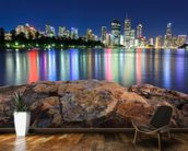 Brisbane Night Reflections wallpaper mural kitchen preview