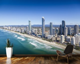 City Wallpaper Skyline Wall Murals
