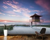 Gold Coast Lifeguard Hut mural wallpaper kitchen preview