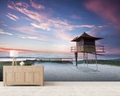 Gold Coast Lifeguard Hut mural wallpaper living room preview
