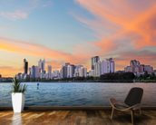 Perth Skyline at Sunset wall mural kitchen preview