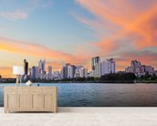Perth Skyline at Sunset wall mural living room preview