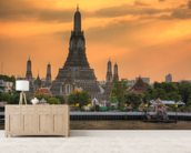 Bangkok - Wat Arun Sunset wall mural living room preview