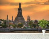 Bangkok - Wat Arun Sunset wall mural in-room view