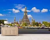 Bangkok - Wat Arun mural wallpaper living room preview