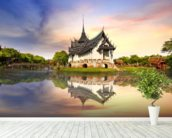 Thailand - Sanphet Prasat Palace wall mural in-room view