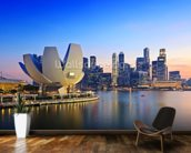 Singapore Skyline mural wallpaper kitchen preview