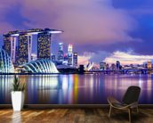 Singapore Skyline at Night wall mural kitchen preview