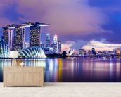 Singapore Skyline at Night wall mural living room preview