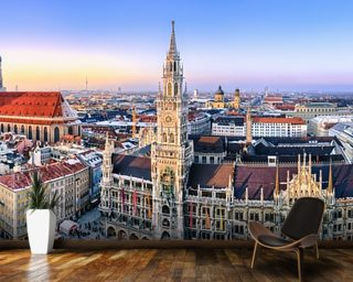 Munich Skyline wallpaper mural