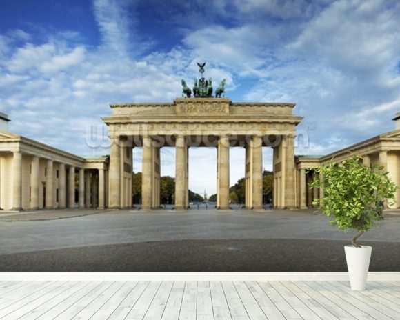 Brandenburger Gate wallpaper mural room setting