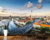 Berlin Afternoon Cityscape mural wallpaper kitchen preview