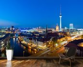 Berlin at Night wall mural kitchen preview