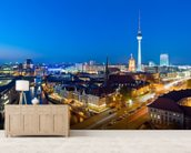 Berlin at Night wall mural living room preview