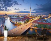 Berlin Evening Skyline mural wallpaper kitchen preview