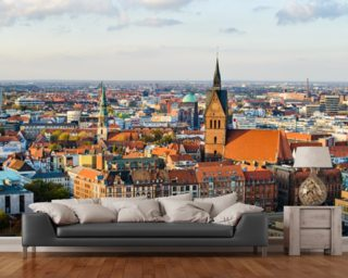 Hannover Skyline mural wallpaper