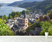 Rhine Valley wall mural in-room view