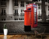 London Post Box wall mural kitchen preview