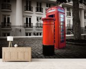 London Post Box wall mural living room preview