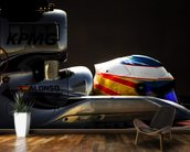 Fernando Alonso Bahrain 15 wall mural kitchen preview