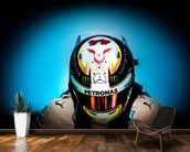 Lewis Hamilton wall mural kitchen preview