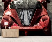 La Ferrari wallpaper mural living room preview
