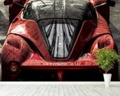 La Ferrari wallpaper mural in-room view