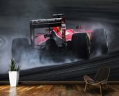 Sebastian Vettel Locks Up wallpaper mural kitchen preview