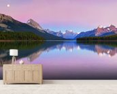 Maligne Lake wallpaper mural living room preview