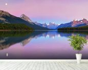 Maligne Lake wallpaper mural in-room view