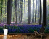 Blue Bell Forest wallpaper mural kitchen preview