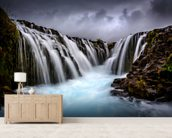 Bruarfoss 2 wallpaper mural living room preview