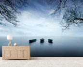 Three Boats wallpaper mural living room preview