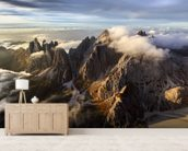 Above the Mountain mural wallpaper living room preview