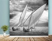 Sailboats and Light mural wallpaper in-room view