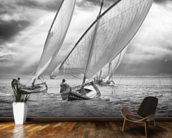 Sailboats and Light mural wallpaper kitchen preview