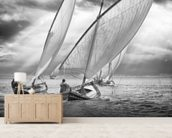 Sailboats and Light mural wallpaper living room preview