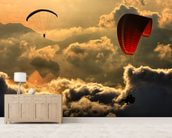 Paragliding wall mural living room preview