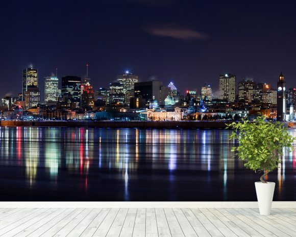 Montreals Night wall mural room setting