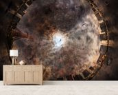 Ominous Premonition mural wallpaper living room preview