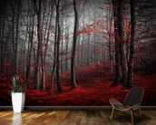 Red Carpet Forest wallpaper mural kitchen preview