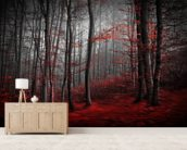Red Carpet Forest wallpaper mural living room preview