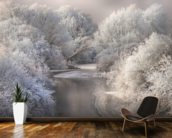 Winter Trees wall mural kitchen preview