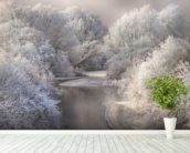 Winter Trees wall mural in-room view
