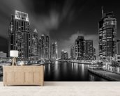 Dubai Marina wallpaper mural living room preview