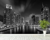 Dubai Marina wallpaper mural in-room view