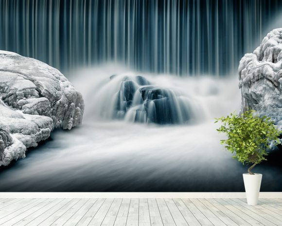 Icy Falls wallpaper mural room setting
